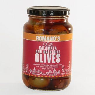 romanos-chilli-kalamata-halkidiki-olives